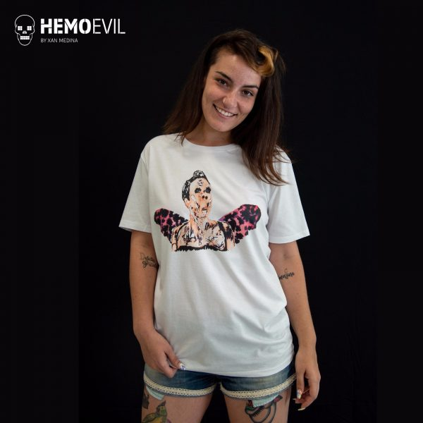 """T-shirt model """"Woman with wings""""."""
