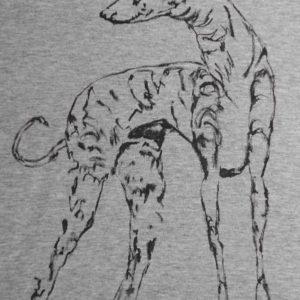 Camiseta pintada a mano GALGO