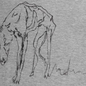 SAD GREYHOUND Hand-painted T-shirt