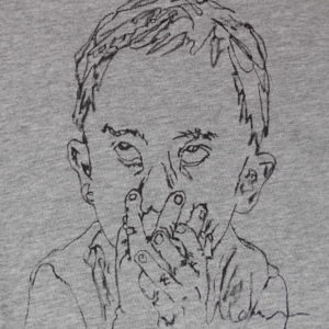 Hand-painted T-shirt SHY CHILD