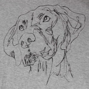Hand-painted dog T-shirt
