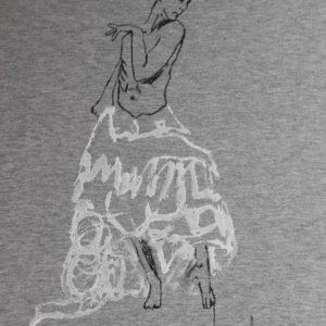 Camiseta pintada a mano YO DECIDO