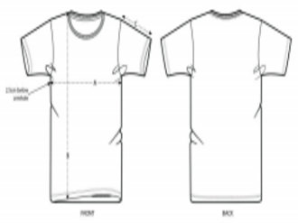 Guía de tallas. Camisetas pintadas a mano.