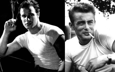Iconic Marlon Brando and Jeams Dean T-Shirts